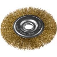 DEXX. Щетка дисковая для УШМ, витая стальная латунированная проволока 0,3мм, 150ммх22мм 35101-150