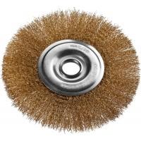 DEXX. Щетка дисковая для УШМ, витая стальная латунированная проволока 0,3мм, 175ммх22мм 35101-175