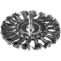 DEXX. Щетка дисковая для дрели, жгутированная стальная проволока 0,5мм, 100мм 35108-100