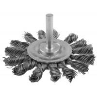 """ЗУБР """"ПРОФЕССИОНАЛ"""". Щетка дисковая для дрели, жгутированная стальная проволока 0,5мм, 75мм 3522-075_z02"""