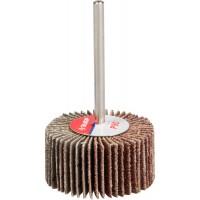 """Круг шлифовальный ЗУБР """"МАСТЕР"""" веерный лепестковый, на шпильке, тип КЛО, зерно-электрокорунд нормальный, P80, 15х30мм 36600-080"""