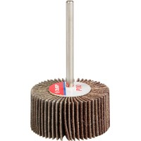 """Круг шлифовальный ЗУБР """"МАСТЕР"""" веерный лепестковый, на шпильке, тип КЛО, зерно-электрокорунд нормальный, P100, 15х30мм 36600-100"""