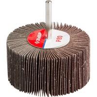 """Круг шлифовальный ЗУБР """"МАСТЕР"""" веерный лепестковый, на шпильке, тип КЛО, зерно-электрокорунд нормальный, P80, 40х80мм 36604-080"""