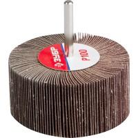 """Круг шлифовальный ЗУБР """"МАСТЕР"""" веерный лепестковый, на шпильке, тип КЛО, зерно-электрокорунд нормальный, P100, 40х80мм 36604-100"""