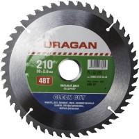 """Диск пильный """"Clean cut"""" по дереву, 210х30мм, 48Т, URAGAN 36802-210-30-48"""