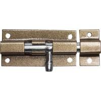 """Задвижка накладная для окон и мебели """"ШП-60 КМЦ"""", цвет коричневый металлик/цинк, 60мм 37753-60"""