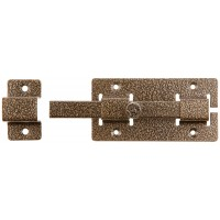 """Задвижка накладная""""ЗД-06""""для дверей усиленная, порошковое покрытие, цвет бронза, квадратный засов 15х145х15мм, 75х115мм 37788-6"""