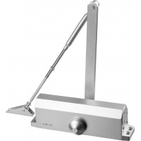 Доводчик дверной STAYER, для дверей массой до 100 кг, цвет серебро 37915-100