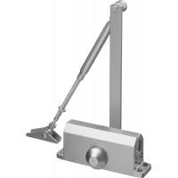 Доводчик дверной STAYER, для дверей массой до 80 кг, цвет серебро 37915-80