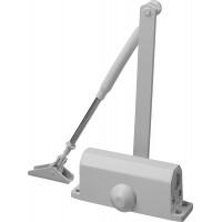 Доводчик дверной STAYER, для дверей массой до 80 кг, цвет белый 37916-80