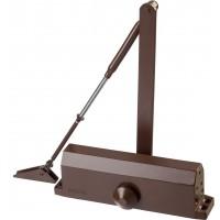 Доводчик дверной STAYER, для дверей массой до 100 кг, цвет коричневый 37917-100