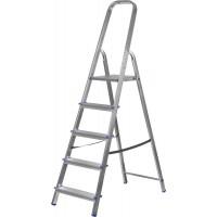 Лестница-стремянка ЗУБР алюминиевая, усиленный профиль, 5 ступеней 38805-05