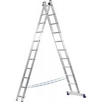 Лестница СИБИН универсальная, двухсекционная, 9 ступеней 38823-09