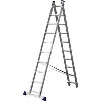Лестница СИБИН универсальная, двухсекционная, 10 ступеней 38823-10