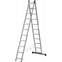 Лестница СИБИН универсальная, двухсекционная, 11 ступеней 38823-11