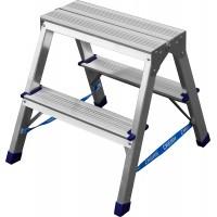 Лестница-стремянка двухсторонняя алюминиевая, СИБИН 38825-02, 2 ступени 38825-02