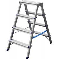 Лестница-стремянка двухсторонняя алюминиевая, СИБИН 38825-04, 4 ступени 38825-04
