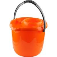 Ведро DEXX, пластиковое для непищевых продуктов, с держателем МОП, 12л 39312