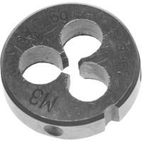 """Плашка ЗУБР """"МАСТЕР"""" круглая ручная для нарезания метрической резьбы, М3 x 0,5 4-28022-03-0.5"""