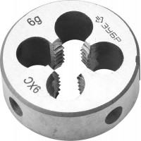 """Плашка ЗУБР """"МАСТЕР"""" круглая ручная для нарезания метрической резьбы, мелкий шаг, М5 x 0,5 4-28022-05-0.5"""