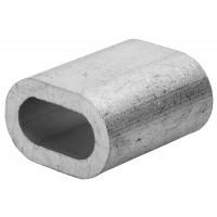 Зажим троса ЗУБР DIN 3093 алюминиевый, 1,5мм, 2 шт 4-304476-01
