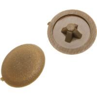Заглушка декоративная ЗУБР под шуруп, цвет бук, шлиц №2, ТФ6, 40шт 4-308156-2