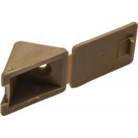 Уголок мебельный ЗУБР с шурупом, цвет бук, 4,0x15мм, ТФ6, 4шт 4-308256-2