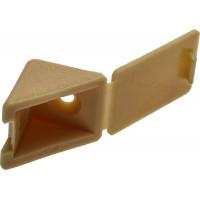Уголок мебельный ЗУБР с шурупом, цвет сосна, 4,0x15мм, ТФ6, 4шт 4-308256-4