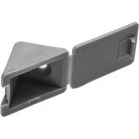 Уголок мебельный ЗУБР с шурупом, цвет св-серый, 4,0x15мм, ТФ6, 4шт 4-308256-6