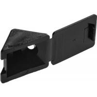 Уголок мебельный ЗУБР с шурупом, цвет черный, 4,0x15мм, ТФ6, 4шт 4-308256-7