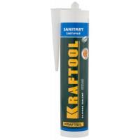 Герметик силиконовый KRAFTOOL прозрачный, санитарный, для помещений с повышенной влажностью, 300мл 41255-2