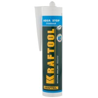 """Герметик KRAFTOOL KRAFTSeal GX107 """"AQUA STOP"""" силиконовый стекольный, прозрачный, 300мл 41256-2"""