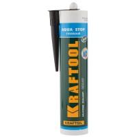 """Герметик KRAFTOOL KRAFTSeal GX107 """"AQUA STOP"""" силиконовый стекольный, черный, 300мл 41256-4"""