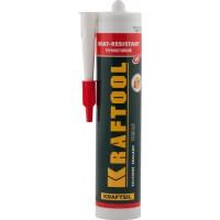Герметик силиконовый KRAFTOOL красный, температуростойкий (от -62 С до 275 С), 300мл 41259