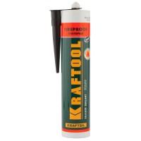 """Герметик KRAFTOOL KRAFTFLEX FR150 силикатный огнеупорный """"+1500 С"""", жаростойкий, черный, 300мл 41260-4"""