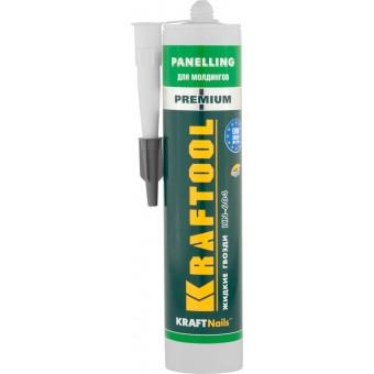 Клей монтажный KRAFTOOL KraftNails Premium KN-604, для молдингов, панелей и керамики, без растворителей, 310мл 41349_z01