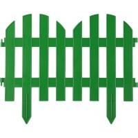 """Забор декоративный GRINDA """"ПАЛИСАДНИК"""", 28x300см, зеленый 422205-G"""