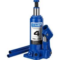 Домкрат гидравлический бутылочный T50, 4т, 192-374мм, ЗУБР Профессионал 43060-4 43060-4_z01