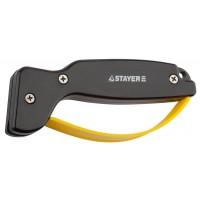 """Точилка STAYER """"MASTER"""" универсальная, для ножей, с защитой руки, рабочая часть из карбида 47513"""