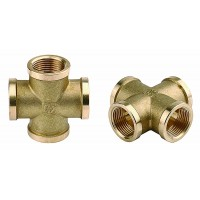 "Крестовина GENERAL FITTINGS латунь, г/г/г/г, 1/2"" 51049-1/2"