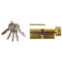 "Механизм ЗУБР ""МАСТЕР"" цилиндровый, тип ""ключ-защелка"", цвет латунь, 5-PIN, 80мм 52103-80-1"