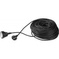 Удлинитель ЗУБР электрический, ПВС 3х1кв мм, черный, 1 гнездо, макс мощн 2200Вт, 30м 55013-30