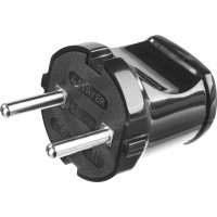 Вилка MAXElectro электрическая, 6А/220В, черная, STAYER 55150-B