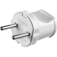 Вилка MAXElectro электрическая, 6А/220В, белая, STAYER 55150-W