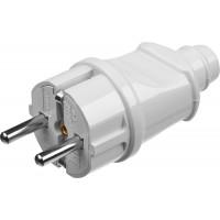 Вилка MAXElectro электрическая, 16А/220В, с заземлением, белая, STAYER 55160-W