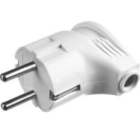 Вилка MAXElectro электрическая, 16А/220В, угловая, с заземлением, белая, STAYER 55161-W
