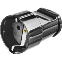 Розетка MAXElectro электрическая, 16А/220В, с заземлением, черная, STAYER 55180-B