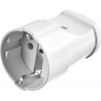 Розетка MAXElectro электрическая, 16А/220В, с заземлением, белая, STAYER 55180-W