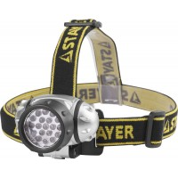 "Фонарь STAYER ""STANDARD"" налобный светодиодный, 19LED, 4 режима, 3ААА 56570"