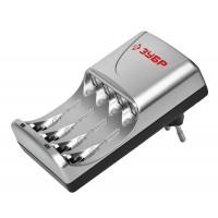 Зарядное устройство ЗУБР для никель-металлгидридных аккумуляторов, в блистере, время зарядки 1 час, 4хААА/АА 59253-4